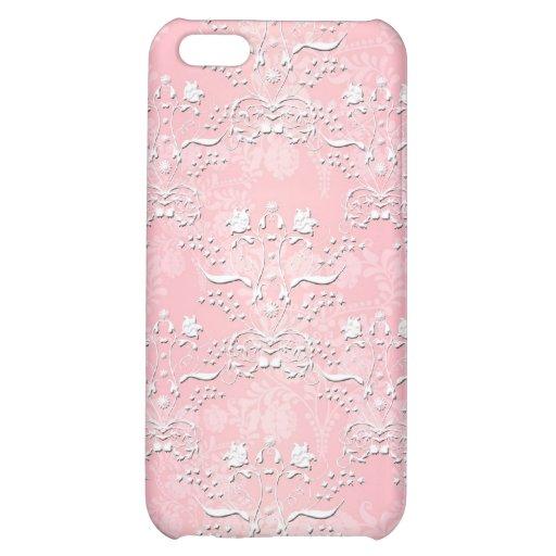 Bonito palidezca - el modelo rosado del damasco de