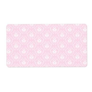 Bonito palidezca - el modelo rosado del damasco etiquetas de envío