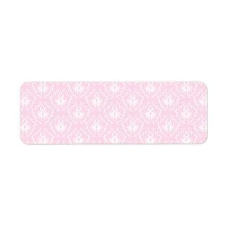 Bonito palidezca - el modelo rosado del damasco etiquetas de remite