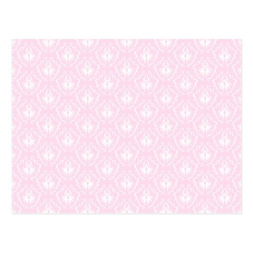 Bonito palidezca - el modelo rosado del damasco tarjetas postales