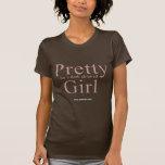 Bonito para un chica pelado oscuridad (2) camisetas