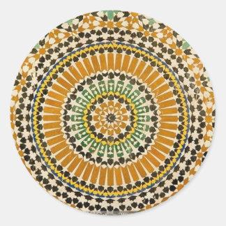 Bonito persa pegatina redonda