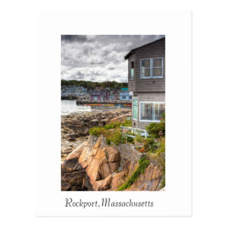 Bonito poca casa de playa postal