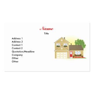 Bonito poca casa tarjetas de visita