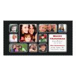 Bonito poca tarjeta de la foto del collage del lun tarjeta personal con foto