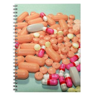bonito pocas píldoras del azúcar cuaderno