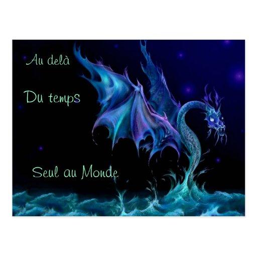 BONITO postal Dragón de los mares