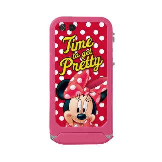 Bonito rojo de Minnie el   Carcasa De Iphone 5 Incipio Atlas Id