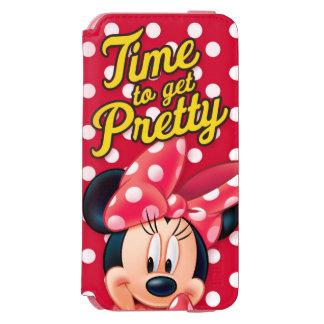 Bonito rojo de Minnie el   Funda Billetera Para iPhone 6 Watson