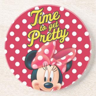 Bonito rojo de Minnie el | Posavasos Diseño