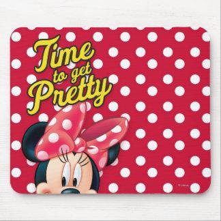 Bonito rojo de Minnie el   Tapetes De Raton