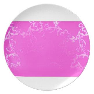 bonito, rosa, flourish, flor, postre, placa platos