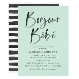 French baby shower invitations announcements zazzle bonjour bebe french baby shower invitation filmwisefo