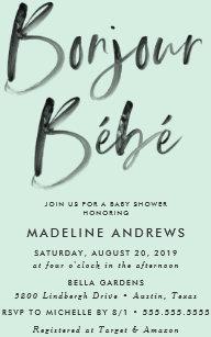 French baby shower invitations zazzle bonjour bebe french baby shower invitation filmwisefo