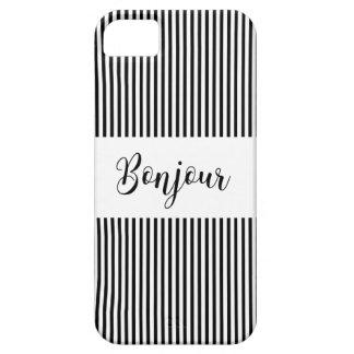 Bonjour-blackText iPhone SE/5/5s Case