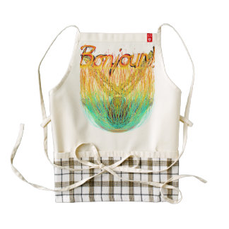 Bonjour Bonfire Soup Zazzle HEART Apron