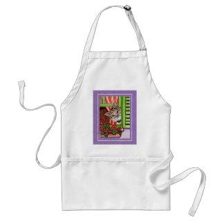 Bonjour cat adult apron