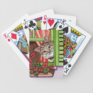 Bonjour Cat Bicycle Playing Cards
