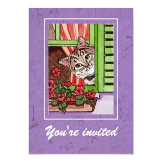 Bonjour cat card