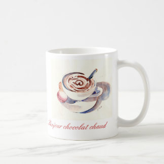 Bonjour chocolat chaud coffee mugs