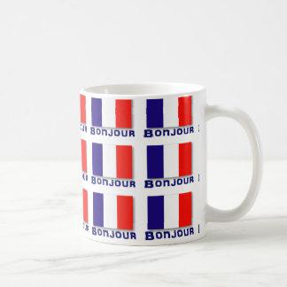 Bonjour coffee mugs