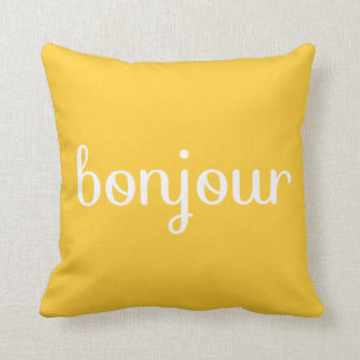 BONJOUR - Customize it! - Throw Pillows