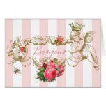 Bonjour French Inspired Note Card