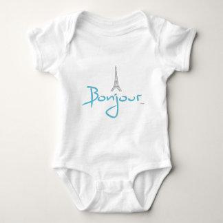 Bonjour (Hello) Paris Eiffel Tower Baby Bodysuit