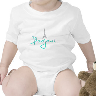 Bonjour (Hello) Paris Baby Bodysuit