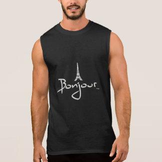 Bonjour (Hello) Paris Sleeveless Shirt