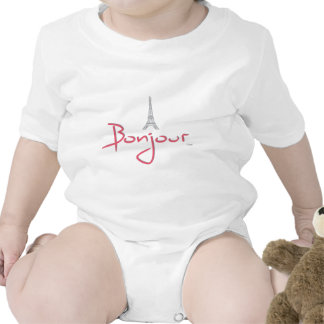 Bonjour (Hello) Paris Baby Bodysuits