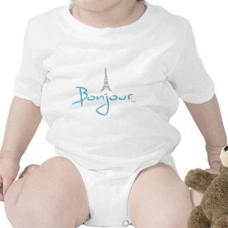 Bonjour hola París Traje De Bebé
