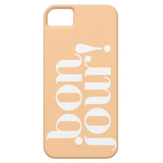 """""""Bonjour"""" in Peach and White iPhone SE/5/5s Case"""