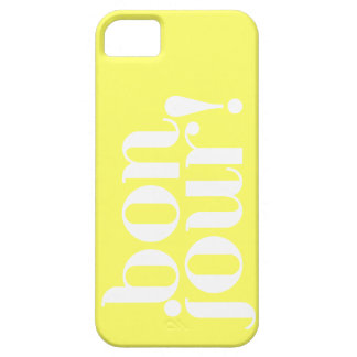 """""""Bonjour"""" in Yellow and White iPhone SE/5/5s Case"""