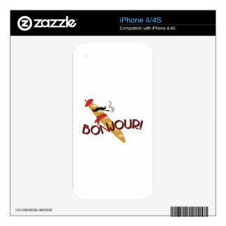 Bonjour! iPhone 4 Decal