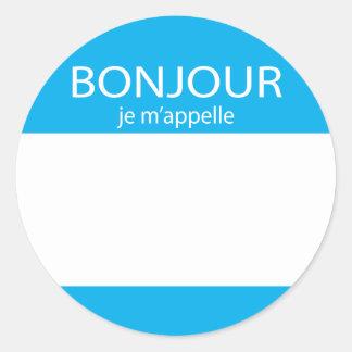 Bonjour je m'appelle French hello tag