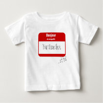 Bonjour, Je m'appelle... / Hi, My name is Baby T-Shirt