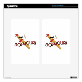 Bonjour! Kindle Fire Decal