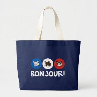Bonjour! Large Tote Bag