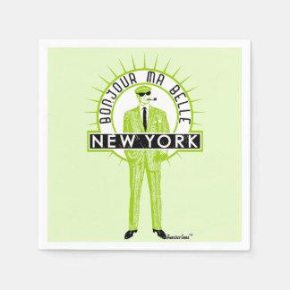Bonjour mA barks New York by FRA Cisco Evans ™ Paper Napkin