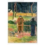 Bonjour, Monsieur Gauguin, 1889 Card