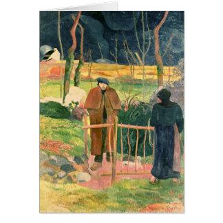 Bonjour Monsieur Gauguin 1889 Card