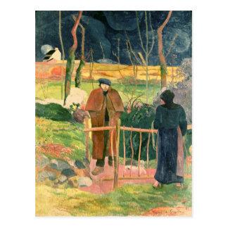 Bonjour Monsieur Gauguin 1889 Postcard