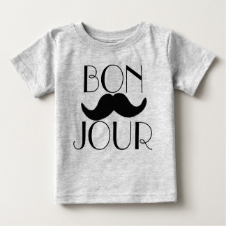 BONJOUR Moustache Baby T-Shirt