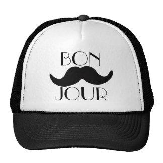 BONJOUR Moustache Trucker Hat