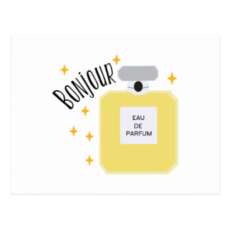 Bonjour Parfum Postcard