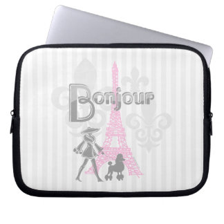 Bonjour Paris 2 Laptop Sleeve