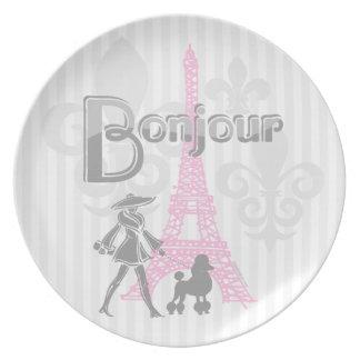 Bonjour Paris 2 Plate