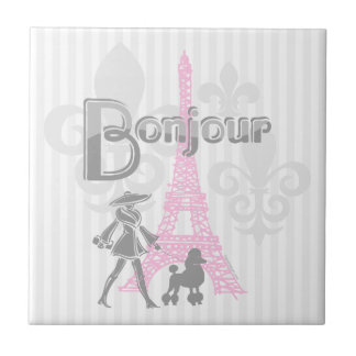 Bonjour Paris 2 Tile