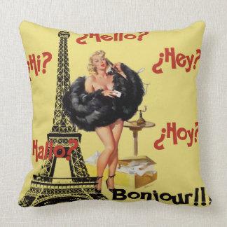 Bonjour Paris Cojín Decorativo